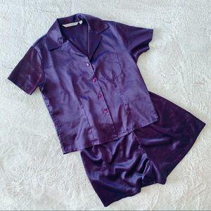 Victoria's Secret silky pajamas small purple